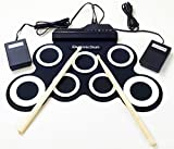 Portable Electronic Drum Foldable Roll up Drum Pad Kits Musical Entertainment Practice Instrument