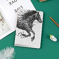 印刷者IPad Pro 11 ケースiPad Pro 11 カバー 軽量 薄型 PUレザー 三つ折スタンド オートスリープ機能 2018年秋発売のiPad Pro 11インチ専用大ざっぱな未来的な珍しいパターン化されたライン結合動物の馬図イメージ