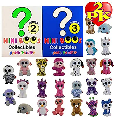 TY Mini Boos Hand Painted Collectible Figurines Series 2 & 3 Blind Box Gift Set Bundle - 2 Pack (Asst. Box Colors) Matty's Toy Stop Exclusive