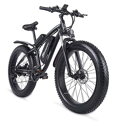 Sheng milo-MX02S 26 Inch Fat Tire Electric Bike 48V 1000W Motor Snow Electric Bicycle with Shimano...