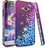 LeYi Galaxy J3 2016 Case with Tempered Glass Screen