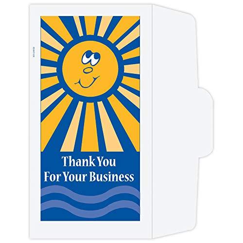 Drive Up Envelopes - Thank You - Sunshine - 500/box - Money Envelopes