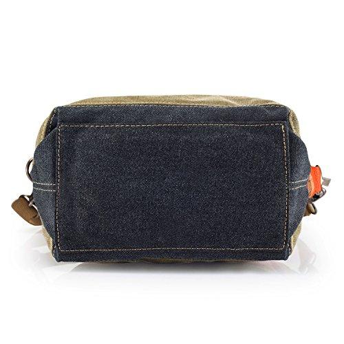 SNUG STAR Multi-Color Striped Lattice Canvas Handbag Cross Body Should Purse Bag Tote-Handbag for Women