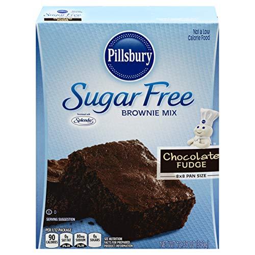 Pillsbury Sugar Free Fudge Brownie Mix, chocolate, 12.35 Ounce