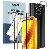 KOOUN [2+2 Stück] Schutzfolie für Xiaomi Poco X3 NFC/Poco X3 Pro Panzerglas,mit Kamera Glasfolie & Rahmen-Installationshilfe,9H Festigkeit, HD Klare Panzerfolie Bildschirmschutzfolie,Kratzfest