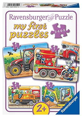Ravensburger Kinderpuzzle - 06954 Bei der Arbeit - my first puzzle mit 2,4,6,8...