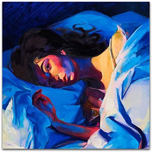 NC87 Lorde Melodrama Pop álbum de música luz Verde 2017 Arte Lienzo Pintura Cartel decoración del hogar impresión en lienzo-60X60Cm sin Marco