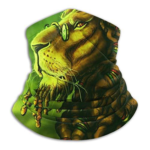 NWRYWBYPOE Jamaica Rasta Lion Dreadlocks Grün Unisex Mikrofaser Wärmer Gesicht Bandana Neck Gaiter Winddicht Sonne UV-Schutz Wiederverwendbare Tuch Schal Sturmhaube