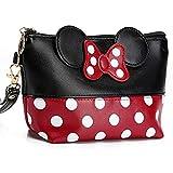 Cartoon Leather Travel Makeup Handbag, Cute Portable...