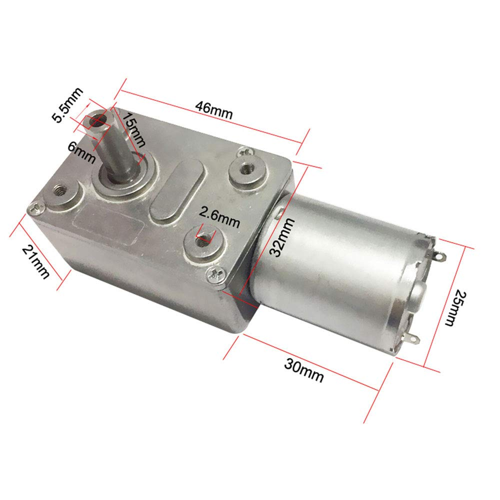 13.14Kg.cm 6mm Wellen Permanent Magnet Getriebe Motor 50RPM DC 12V