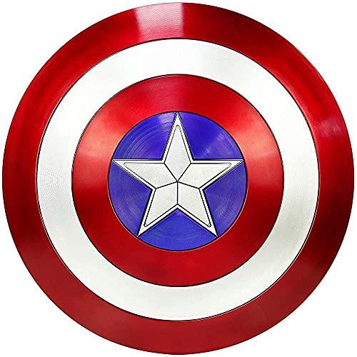 HLWJXS Marvel Avengers Capitán América Escudo 1: 1 Versión de película Juego de Roles 75 Aniversario Edición de coleccionista Escudo de plástico ABS Decoración de Barra de superhéroe 58 CM / 23 pul