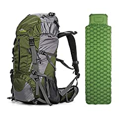 50L Hiking Backpack - The backpacks with large capacity helps you easily organize all your essential items. Comfortable Daypack - Breathable mesh shoulder straps with plentiful sponge padding help relieve the stress from your shoulder. Widened and th...