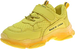 Sneakers Shoes Trainers with Lights Knitting Shoes for Kindergarten Children Candy Colors 70% Discount for Walking Trekking Casual Kids Breathable Non-Slip, FULLSUNNY