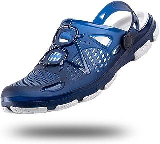 Sabot Homme Femme Plastique Chaussures de Jardin Antiderapante Clogs Slides Été Sandales de Plage Mixte Noir Blanc Bleu Ja...