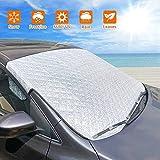BLAZOR Sonnenschutz Auto, Frontscheibenabdeckung Auto Sonnenschutz Block Wärme UV, Auto Sonnenschutz Frontscheibe Windschutzscheibenabdeckung für Die Meisten Autos und SUV