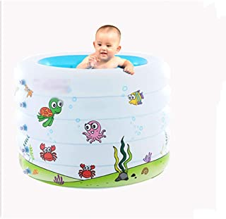SHYPT Round five-layer inflatable bathtub,Bathtub Plastic Portable Foldable Bathtub Soaking Size ,106cm*75cm