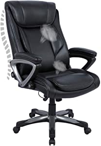 Big and Tall Office Desk Chair, Thick Padding for Comfort and Ergonomic Design for Lumbar Support