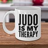 Mattanch Regalos de Judo Taza de café de Judo Accesorios de Judo Judo es mi Taza de...