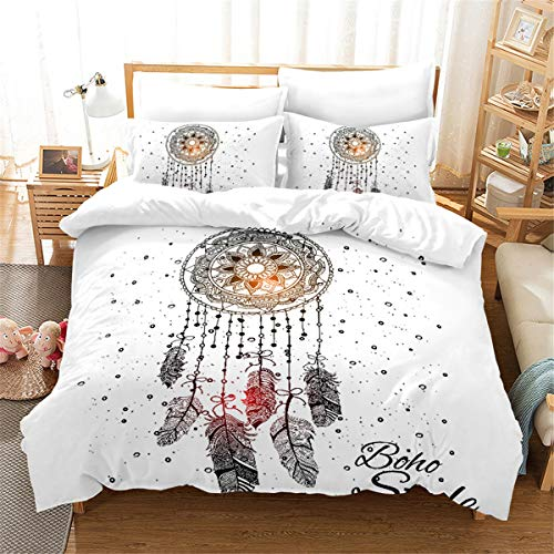 Goldrui Queen Bedding Cover Set - Luxury Microfiber Comforter Quilt Cover - Best Organic Modern Style for Kids and Women(4 pcs, Flat Sheet+ Fitted+ 2 Pillowcase)