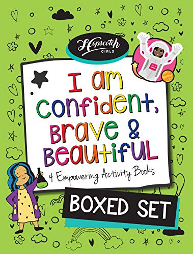 I Am Confident, Brave & Beautiful: Boxed Set - 4 Activity Books from Hopscotch Girls - 2 Coloring Books +...
