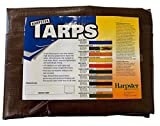 10 Ft. X 12 Ft. Super Heavy Duty 8 Oz. Brown Tarp - 16 Mil Thick