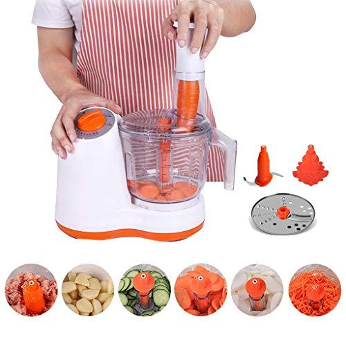 JIN Licuadora eléctrica del procesador de Alimentos, Mandoline Slicer Picadora de Carne...