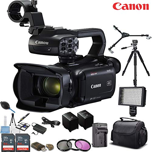 Best Bargain Canon XA45 Professional UHD 4K Camcorder with Spare Battery Deluxe Bundle