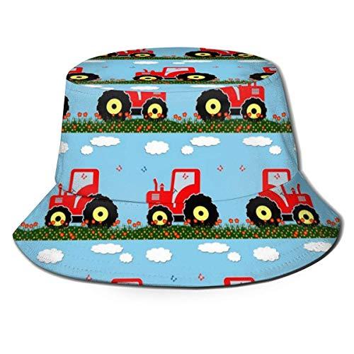 Sombrero Boonie, Sombrero de Sol Unisex, Gorra de Pescador, Gorra de Cubo, Gorra Lisa Informal, Sombrero de Playa, Sombrero de Pescador con diseño de Tractor de Juguete