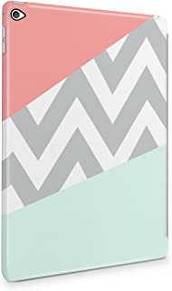 Mint And Coral Pink Chevron Blocks Plastic Tablet Snap On Back Cover Shell For iPad Air 2