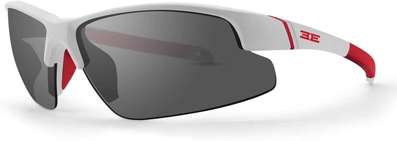 Epoch Bravo White Red Polycarbonate Frame with Smoke Polarized SuperHydrophobic Lens