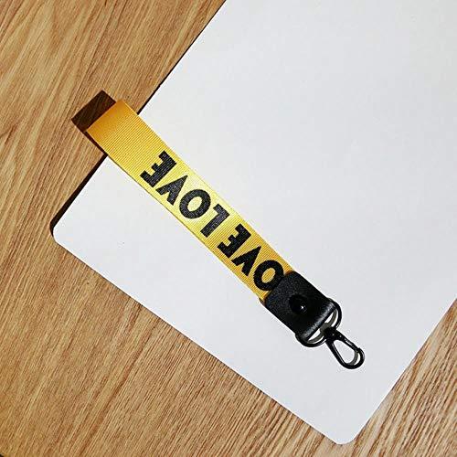 1PCS Key vlechten voor de belangrijkste hanger ring mannen vrouwen heuptas,korte gele