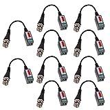 XHTECH 10pvs CCTV Camera Passive Video Balun Transceiver BNC Connector Coaxial Cable