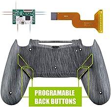 eXtremeRate Dawn Programable Remap Kit PS4 Scuf Reasignación de Botones para Playstaion 4 con Mod Chip&Carcasa Trasera&4 Botones Traseros Compatible con PS4 JDM 040/050/055((Plata cepillada)