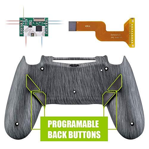 eXtremeRate Dawn Programmierbares Remap Kit für PS4 Controller mit Rückseite Case Gehäuse Hülle&Upgrade-Board&4 Rückseiten Tasten-für Playstation 4 JDM 040/050/055(Gebürstetes Silber Optik)