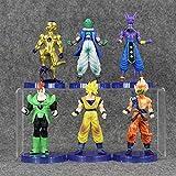 VNNY Dragon Ball Figures Goku Frieza Beerus Piccolo Model Toy Cool Super Saiyan Doll for Kids Battle of Gods 6pcs / Set
