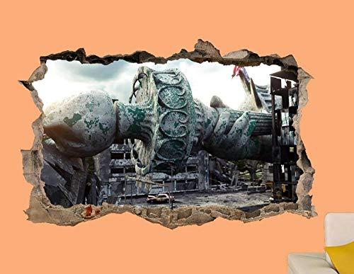 Pegatinas Estatua 3D Art Poster Mural Of Liberty Etiqueta de la pared