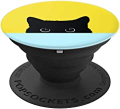 Peekaboo Black Kitty Cat - Funny Cat - PopSockets Grip and Stand for Phones and Tablets