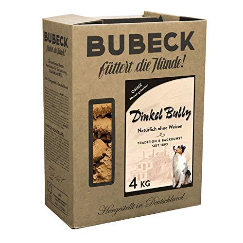 BUBECK | Weizenfreier Hundesnack mit Dinkel gebacken | Ohne Zucker und ohne Konservierungsstoffe | Ergänzungsfuttermittel für Hunde