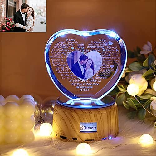 Luz de música Bluetooth 100 idiomas I LOVE YOU Lámpara Lámpara de...
