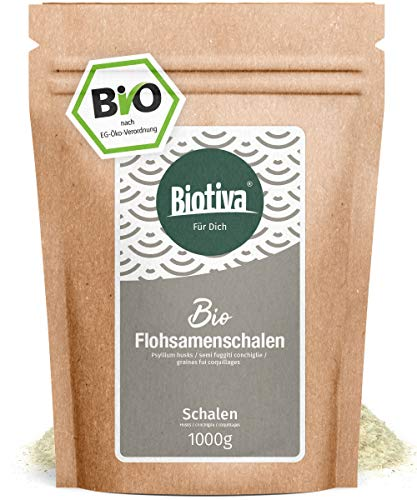 Psyllium une pureté de 99% (Bio, 1kg) - Qualité alimentaire certifié - Riche en fibres - sachets refermables - rempli et contrôlé en Allemagne (DE-ECO-005)