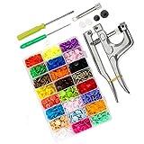 MICHAELA BLAKE Botones de plástico Botones de presión, botón Snap Prendas Botones a presión de plástico de 4 Botones Botones Coloridos Conjunto 360PCS