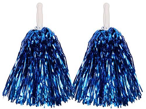 Alsino Metallic Schimmer Pompom 1 Paar Cheerleader, Farbe wählen:blau