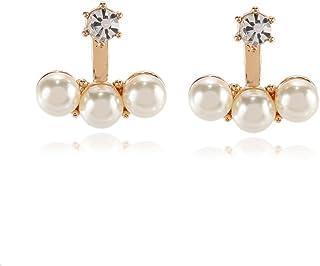 68aa5f51cf3b Amazon.es: pendientes de doble perla - Bisutería barata: Joyería