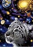 Pintura Diamante 5D,Tigre Diamond Painting 30X40Cm,Diamantes De Imitación Bordados Art Sala De Estar Dormitorio Decoración