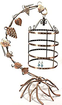NEW Jewelry Tree Earring Necklace Holder Display Stand Birdcage Hang Organize Copper