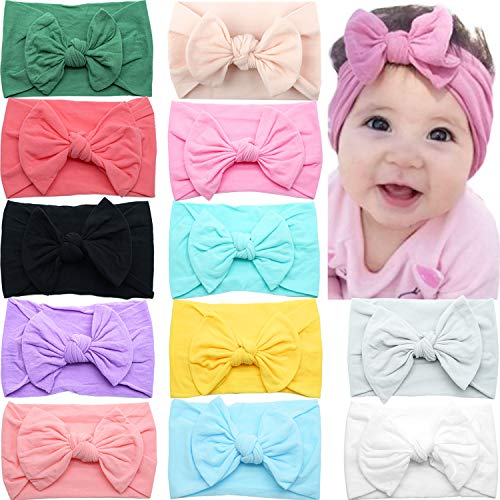 CELLOT 12 Colors Super Stretchy Soft Knot Baby Girl...