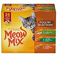 Meow Mix Tenderお気に入り濡れCat Foodカップin Sauce Pack of 24 10079100455123-PARENT