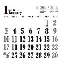 トライエックス 卓上 WHITEスケジュール 2021年 カレンダー 白 卓上 CL-651
