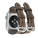 Solo Pelle Apple Watch Series 1/2/3 Watch Leder Armband Uhrenband mit passendem stabilem...