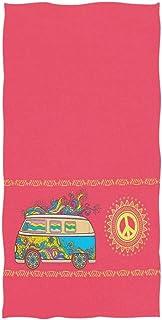 MYGZ-GW Toallas de Mano Suaves para Invitados, Estilo Hippie Chic, Estilo Vintage, Mini Van, Modelo de camioneta (15.7